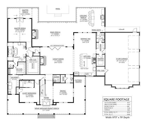 House Plan Design - Farmhouse Floor Plan - Main Floor Plan #1074-29