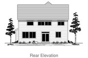 Craftsman Style House Plan - 5 Beds 2.5 Baths 2533 Sq/Ft Plan #53-653 Exterior - Rear Elevation