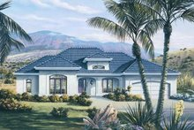 Dream House Plan - Mediterranean Exterior - Front Elevation Plan #57-170