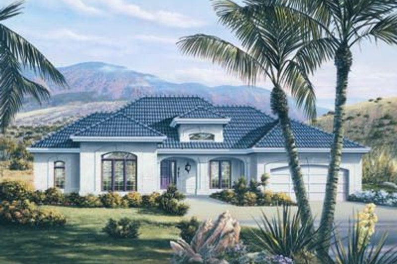Mediterranean Exterior - Front Elevation Plan #57-170 - Houseplans.com