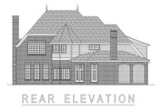 European Style House Plan - 5 Beds 5 Baths 5665 Sq/Ft Plan #458-19 Exterior - Rear Elevation
