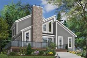 Modern Style House Plan - 3 Beds 2 Baths 1516 Sq/Ft Plan #23-2019 Exterior - Front Elevation