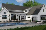Farmhouse Style House Plan - 4 Beds 2.5 Baths 2837 Sq/Ft Plan #51-1136 Exterior - Rear Elevation