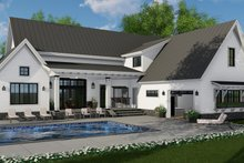 Dream House Plan - Farmhouse Exterior - Rear Elevation Plan #51-1136