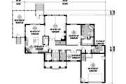 Country Style House Plan - 4 Beds 2 Baths 4230 Sq/Ft Plan #25-4621 Floor Plan - Main Floor Plan