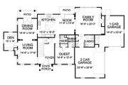 Traditional Style House Plan - 4 Beds 4.5 Baths 4250 Sq/Ft Plan #490-15 Floor Plan - Main Floor Plan
