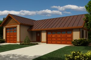 Cottage Exterior - Front Elevation Plan #118-127