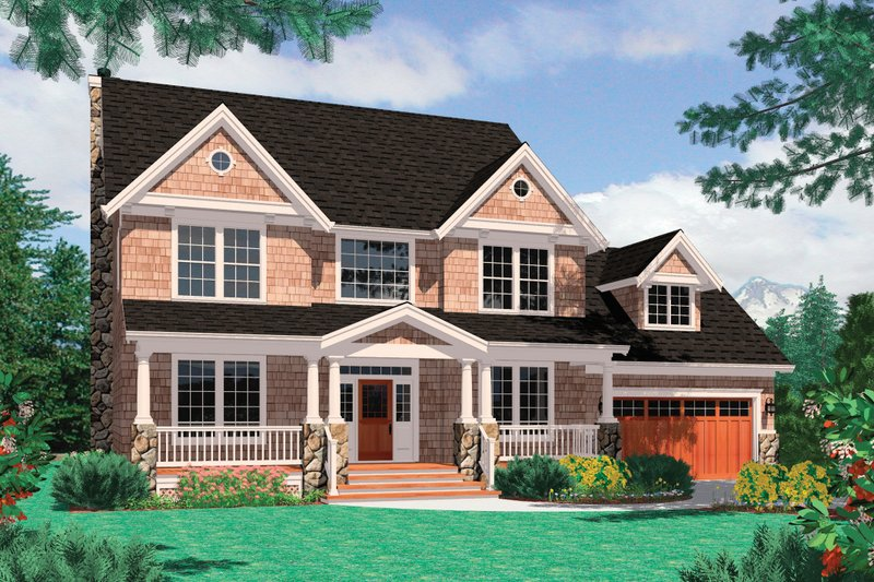 Farmhouse Exterior - Front Elevation Plan #48-105 - Houseplans.com