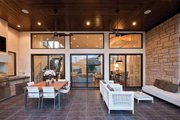Contemporary Style House Plan - 4 Beds 4 Baths 4237 Sq/Ft Plan #935-5 Exterior - Outdoor Living