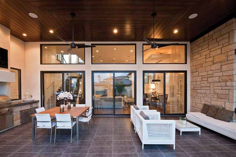 Contemporary Exterior - Outdoor Living Plan #935-5 - Houseplans.com
