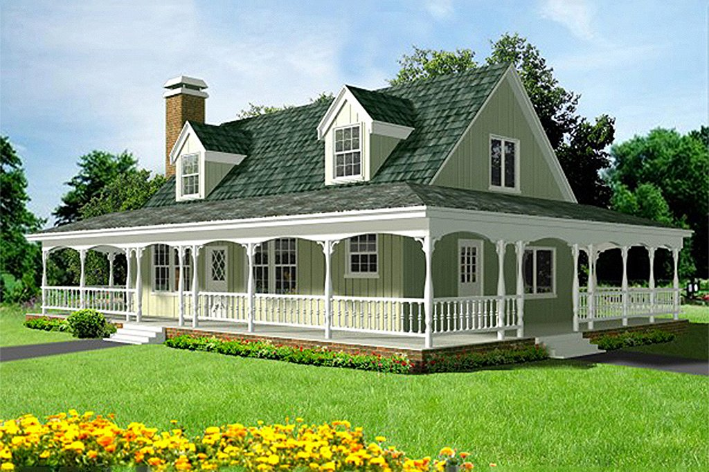 Country Style House Plan 3 Beds 2, Country Farm House Plans