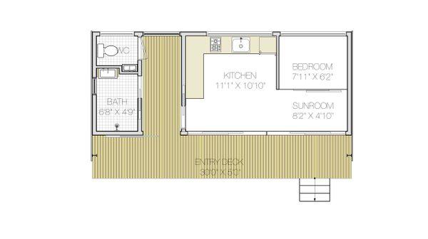 Modern Floor Plan - Main Floor Plan Plan #897-1