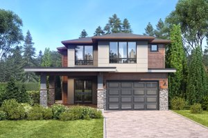 Architectural House Design - Contemporary Exterior - Front Elevation Plan #1066-50