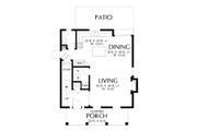 Farmhouse Style House Plan - 3 Beds 2.5 Baths 1394 Sq/Ft Plan #48-992 Floor Plan - Main Floor Plan