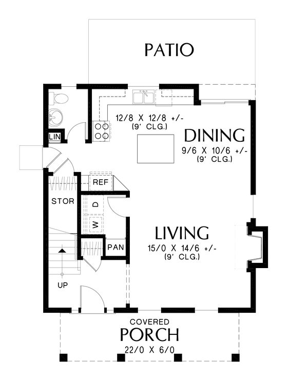 House Plan Design - Farmhouse Floor Plan - Main Floor Plan #48-992