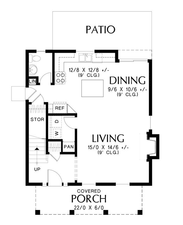 Farmhouse Floor Plan - Main Floor Plan #48-992
