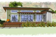 Modern Style House Plan - 1 Beds 1 Baths 640 Sq/Ft Plan #449-14 Exterior - Front Elevation