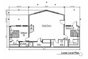 Log Style House Plan - 5 Beds 4 Baths 3867 Sq/Ft Plan #451-2 Floor Plan - Lower Floor Plan