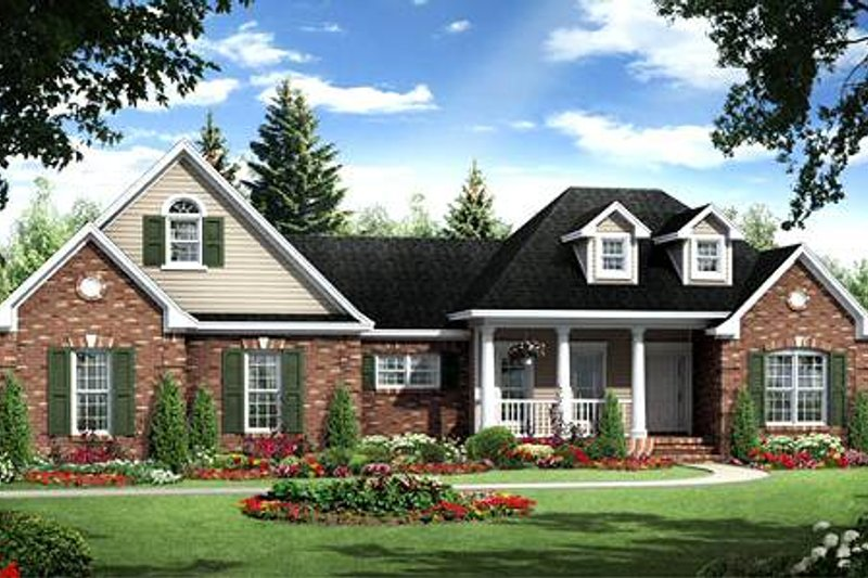 Traditional Exterior - Front Elevation Plan #21-278 - Houseplans.com
