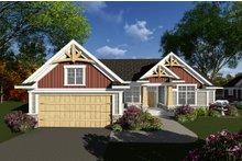 Dream House Plan - Craftsman Exterior - Front Elevation Plan #70-1269