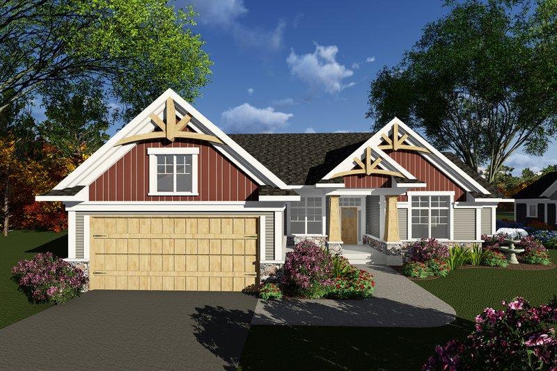 Craftsman Exterior - Front Elevation Plan #70-1269