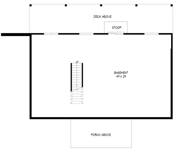 Country Floor Plan - Lower Floor Plan #932-347