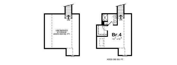 Dream House Plan - Optional Bonus Level or Bedroom 4