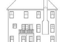 Traditional Exterior - Rear Elevation Plan #419-247