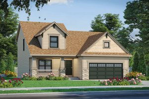Craftsman Exterior - Front Elevation Plan #20-2353