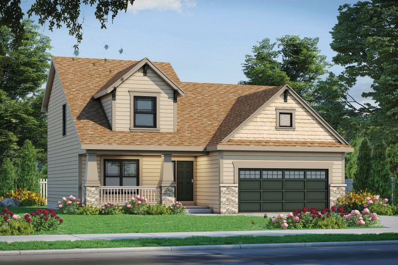 Craftsman Style House Plan - 4 Beds 3 Baths 1554 Sq/Ft Plan #20-2353
