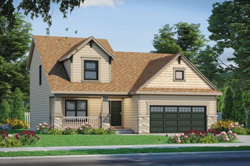 House Plan Design - Craftsman Exterior - Front Elevation Plan #20-2353