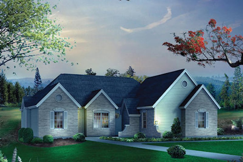 House Design - Traditional Exterior - Front Elevation Plan #57-515
