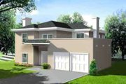 Adobe / Southwestern Style House Plan - 3 Beds 2.5 Baths 2478 Sq/Ft Plan #1-575 Exterior - Front Elevation