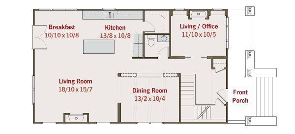 Craftsman Floor Plan - Main Floor Plan #461-35