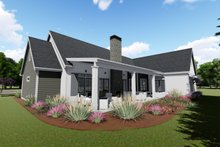 Farmhouse Exterior - Rear Elevation Plan #1069-4