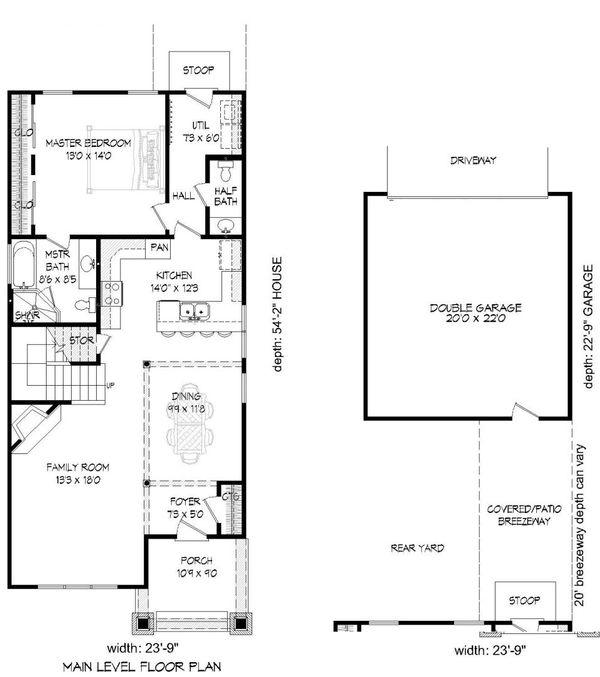 Bungalow Floor Plan - Main Floor Plan Plan #932-6