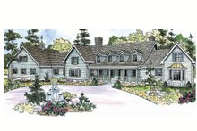 Dream House Plan - Country Exterior - Front Elevation Plan #124-701