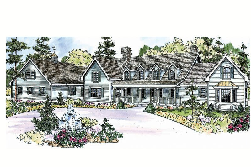 Country Exterior - Front Elevation Plan #124-701