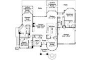 Prairie Style House Plan - 3 Beds 3.5 Baths 3394 Sq/Ft Plan #124-821 Floor Plan - Main Floor Plan