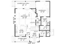 Country Floor Plan - Main Floor Plan Plan #932-2