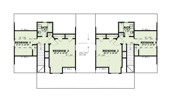 Country Floor Plan - Upper Floor Plan Plan #17-2563
