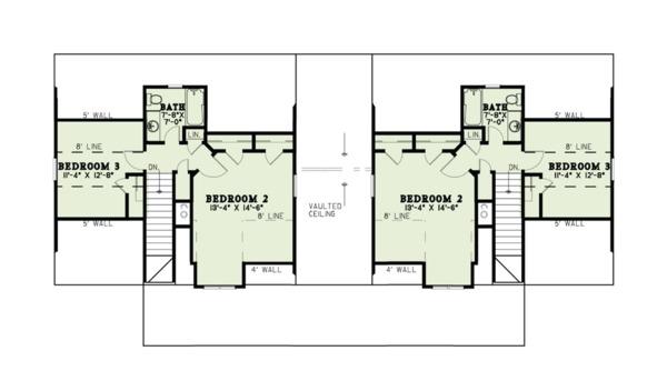 Country Floor Plan - Upper Floor Plan #17-2563