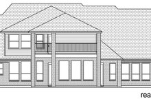 European Exterior - Rear Elevation Plan #84-619