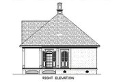 Southern Style House Plan - 1 Beds 1 Baths 848 Sq/Ft Plan #45-253 Exterior - Other Elevation