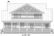 Cabin Style House Plan - 3 Beds 3.5 Baths 1973 Sq/Ft Plan #932-48 Exterior - Rear Elevation