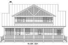 Cabin Exterior - Rear Elevation Plan #932-48