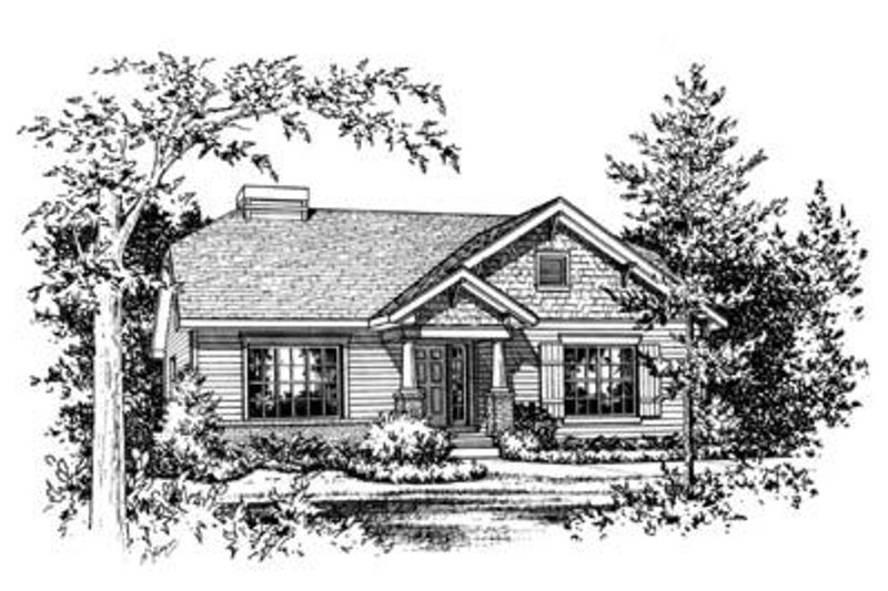 Traditional Exterior - Front Elevation Plan #20-397 - Houseplans.com
