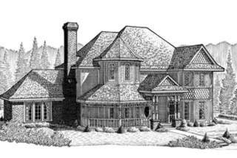 Victorian Exterior - Front Elevation Plan #410-208