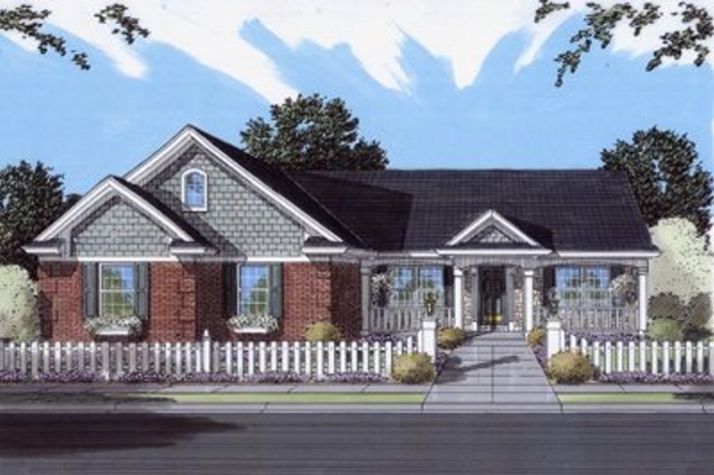 Southern Exterior - Front Elevation Plan #46-115