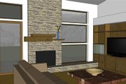 Modern Style House Plan - 3 Beds 2 Baths 1986 Sq/Ft Plan #519-2 Interior - Family Room